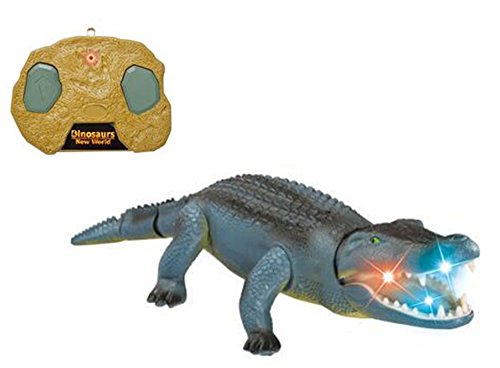 Liberty Imports Remote Control Crocodile Toy RC Walking Alligator with Lights and Sound Effects
