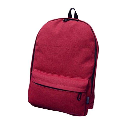 Clode® Mochila de hombro muchachos de las niñas de la escuela bolsa de mano del recorrido del morral de la taleguilla de las mujeres Rojo