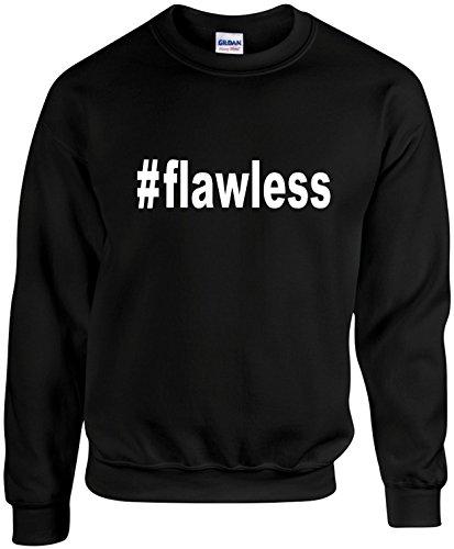 Adult Unisex Funny Crewneck (#Flawless (Hashtag Tee Shirt) Cool) Mens Sweatshirt