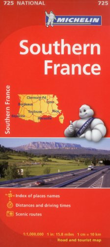 Michelin France, South Map 725 (Maps/Country (Michelin))