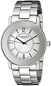 Stuhrling Original Men's 959G.33112 Classic Ascot  Paramount Quartz Ultra Slim Silver Tone Bezel Watch