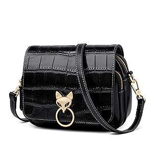 FOXER Women Leather Handbags Shouder Bag Crossbody Crocodile Pattern Purses
