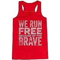 Gone For a Run We Run Free Flowy Racerback Tank Top | Running Tanks Red | Adult Medium