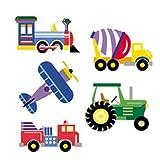 Wallies Wallpaper Cutouts 25 Olive Kids Trains, Planes & Trucks