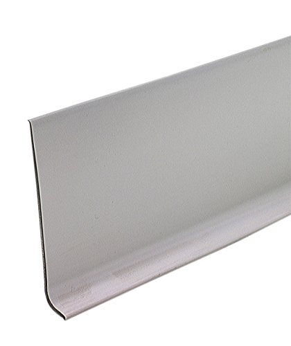 M-D Building Products 73898 4-Inch by 60-Feet Dry Back Vinyl Wall Base, Silver Gray - Gray Cove Base
