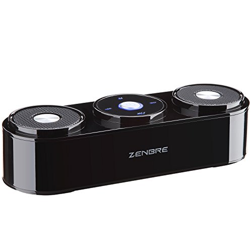 Bluetooth Speakers, ZENBRE Z3 10W Wireless Computer Speakers with 20h Playtime, Portable Speaker with Dual-Driver Enhanced Bass Resonator (Black) by ZENBRE (Image #1)
