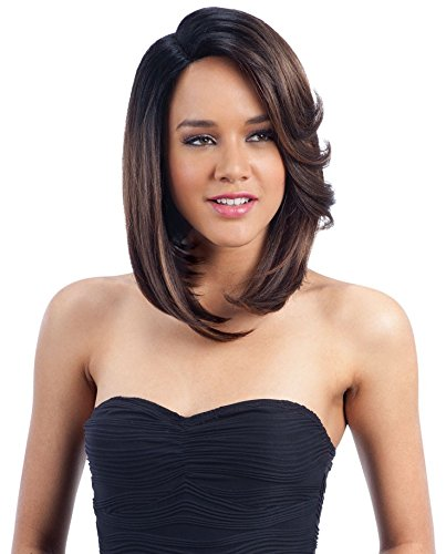 MADANI (1 Jet Black) - Freetress Equal Synthetic 6 inch Deep Lace Side Part Wig (Way Milky Flat)