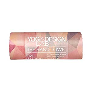 YOGA DESIGN LAB | The Hand Towel | Premium Non Slip Hand Towel | Designed in Bali | Colorful Eco Printed + Quick Dry + Soft | Ideal for Hot Yoga, Bikram, Ashtanga, Sport, Barre, Travel (Aamani)