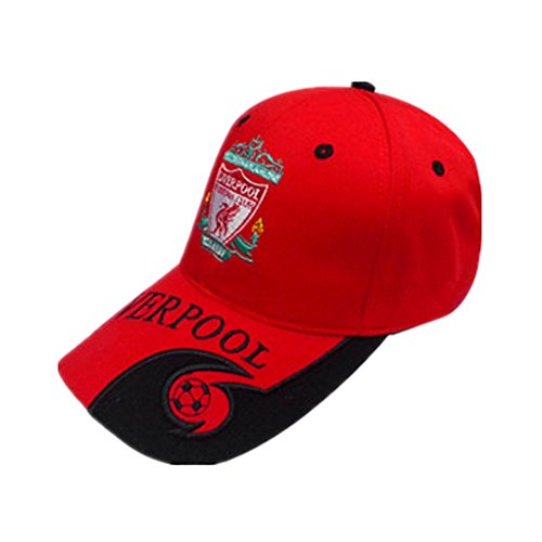 Authentic Liverpool F.C. Soccer Cap Home Hat Embroidered Adjustable Red Baseball Cap by NationalFCcap
