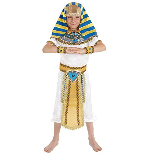 fun shack Boys Egyptian Pharaoh Costume Kids Historical King of Egypt Outfit - Medium FNK2500M-US ()