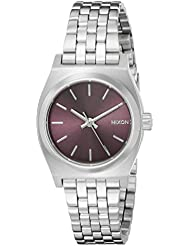 Nixon Womens A3992157 Small Time Teller Analog Display Japanese Quartz Silver Watch