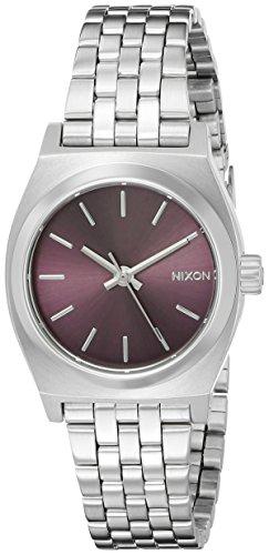 Nixon Women's A3992157 Small Time Teller Analog Display Japanese Quartz Silver Watch