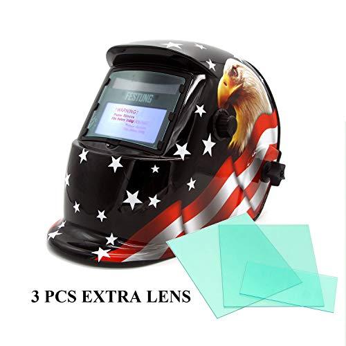 Power Welding Helmet,Solar Power Auto Darkening Welding Helmet,Professional Welding Mask Fit for MIG ARC Welding TIG