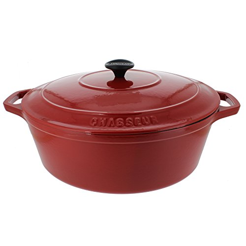 Chasseur 7.25-quart Red French Enameled Cast Iron Oval Dutch (Chasseur Oval Casserole)