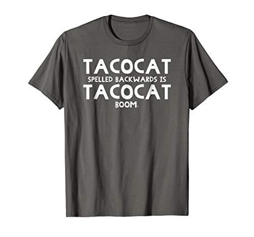 Mens TacoCat Spelled Backwards Funny Taco Cat Awesome Shirt Large Asphalt for $<!--$16.99-->