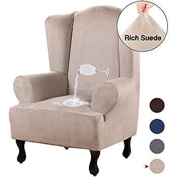Amazon.com: Sure Fit - Funda elástica para silla, color gris ...