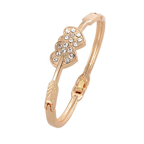 Top Quality Style Cubic Zirconia Rose Gold Color Bracelet Jewelry Austrian Crystal Wholesale Clear