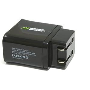 Wasabi Power Dual USB Wall Charger for GoPro Wall Charger AWALC-001 (USA Plug)