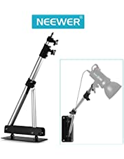 Neewer Triangle Wall Mounting Boom Arm for Photography Studio Video Strobe Lights Monolights Softboxes Umbrellas Reflectors, 180 Degree Flexible Rotation, Max Length 49 inches/125 Centimeters (Black)