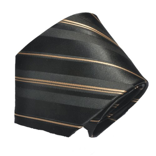 Covona Men's Black Gold Stripe Tie (Covona Tie)