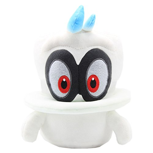 UiUoU Super Mario Odysssey White Cappy Plush 9'' Big -