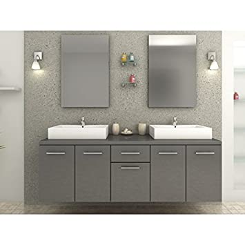 Bathroom Double Sink Vanity Units. Olga Grey Bathroom Vanity Unit with double Basin  Amazon co