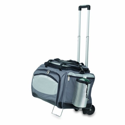 - ONIVA - a Picnic Time Brand Vulcan All-In-One Tailgaiting Cooler/BBQ Set with Trolley