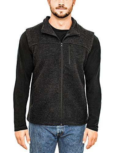(Woolx Men's Andes Heavyweight Merino Wool Vest - Extreme Warmth Without The Bulk, Carbon Black,)