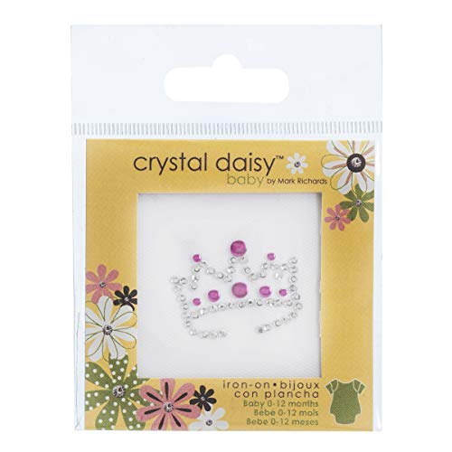 - Crystal Daisy 5254 Iron on Baby Bling Crown Multicolor