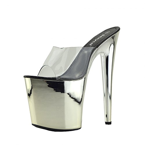 Womens Charmaine Klar High Heels Fashion-Plattform Tanzschuhe Clear