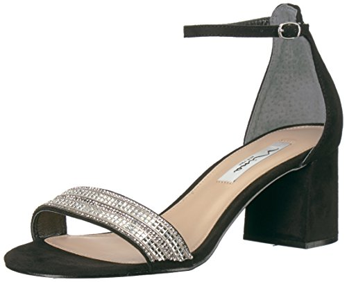 NINA Women's Elenora Dress Sandal, gm-Black, 9.5 M US
