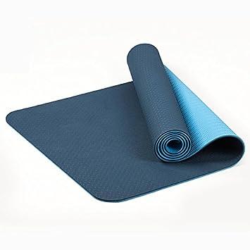 YUN-X Tasteless Yoga Mat TPE Principiante 6mm Slip Exercise ...