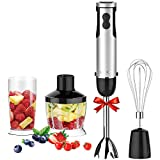 KOIOS 4 in 1 Immersion Hand Blender Powerful 400 Watt 6-Speed...