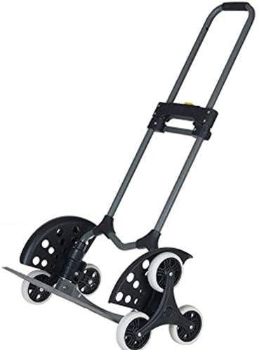 折りたたみトロリー、階段車のミュート耐摩耗性ゴム車輪2階のショッピングカートスチールパイプ6輪階段車の負荷70kg
