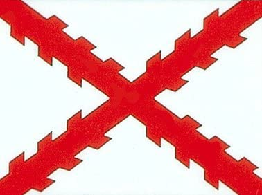3 x5 bandera española de España, Cruz de Borgoña Bandera: Amazon ...