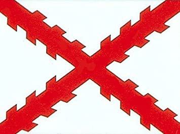 3 x5 bandera española de España, Cruz de Borgoña Bandera