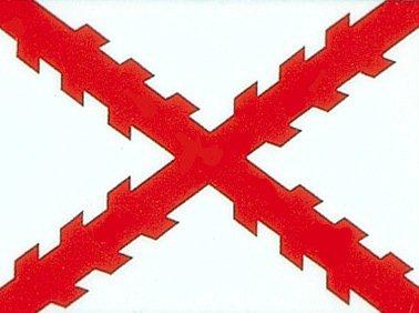 3'x5' SPANISH FLAG of SPAIN, Cross of Burgundy -
