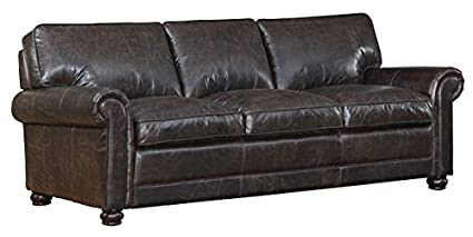 Fantastic Amazon Com Henderson Dark Brown Distressed Leather Pdpeps Interior Chair Design Pdpepsorg