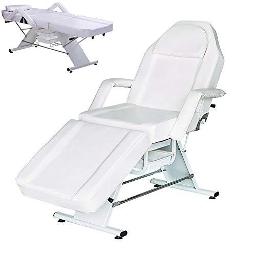 ZYFWBDZ Professional Portable Massage Bed Foldable Adjustable Height Detachable Armrest Seat with Locker Fashion SPA Salon Beauty Salon