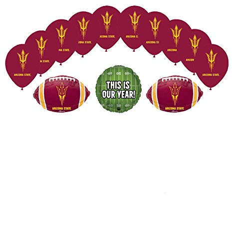 Arizona State University Party Supplies (Mayflower Products Arizona State University Sun Devils Football Tailgating Party Supplies Balloon Bouquet)