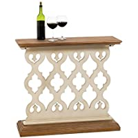 Cape Craftsmen 8HTW028 Evergreen Pine Hall Table Antique White Lattice Design