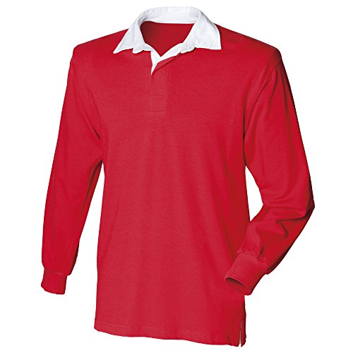 Front Row Long sleeve original rugby shirt Red M