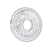 Hukai Cartoon Lace Ring Cutting Die Set Embossing Stencil Template Mold DIY Paper Art Craft Scrapbook Bookmark Greeting Card Decor,Good Gift for Your Kids to Cultivate Their Hands-on Ability