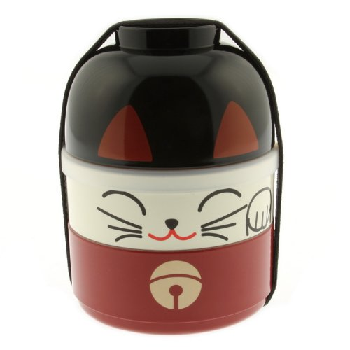 Kotobuki Lucky Cat Stackable Bento Set