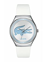 Lacoste Women's Valencia 2000839 White Silicone Analog Quartz Watch