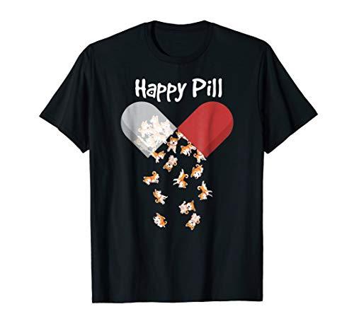 Akita Dog Happy Pill Shirt. Akita Mom Dad Gifts Cute ()