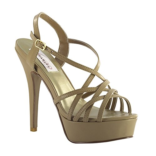 Dyeables, Inc Women's Cali Platform Sandal, Taupe, 11 M US