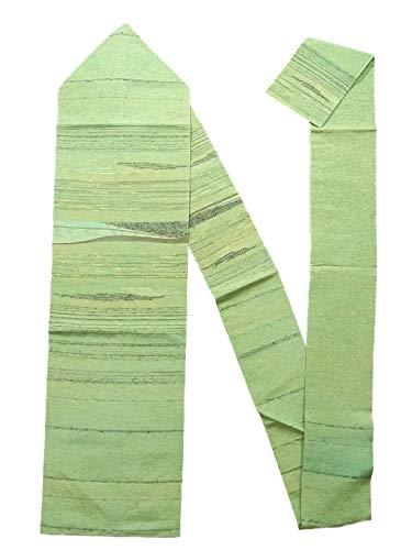 かんがいタイムリーな放牧するリサイクル 名古屋帯 髭紬 アースカラー 縞模様 正絹