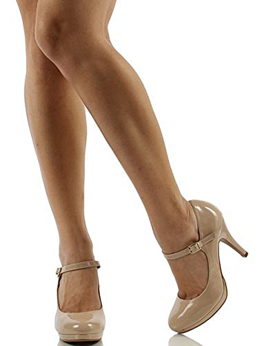 Classified Pat Dennis Comfort Heel Womens High Mary City Beige Jane dOwAdSn