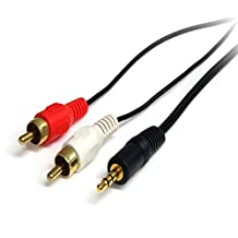 Startech.Com MU6mmRCA 6-Feet Stereo Audio Cable Male to 2X Rca Male (3.5mm)